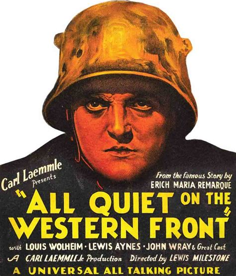 film perang all quiet on the western front kahn s corner 1929 all quiet on the western front by