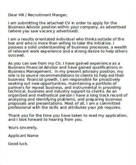Business Analyst Application Letter 31 application letter sles templates pdf doc
