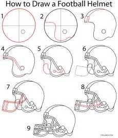 How To Draw A Step By Step Easy How To Draw A Football Helmet Step By Step Pictures