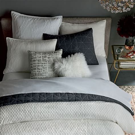 bettdecke textur organic ripple texture duvet cover shams white