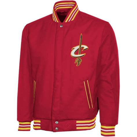 jh design jacket nba cleveland cavaliers wool reversible mens wine color