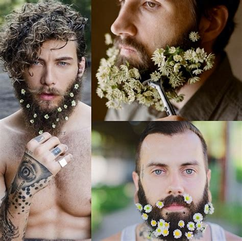 flowers in their men with beards flower beards shemazing