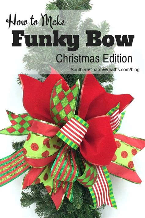 how to make a funky bow christmas edition christmas
