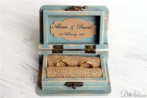 wedding ring box ring bearer box jewelry box wooden