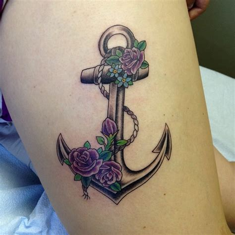 anchor flower tattoo designs anchor tattoos and designs page 153