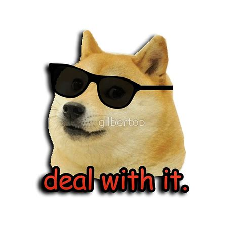 Deal With It Meme - quot doge deal with it dog meme quot throw pillows by gilbertop