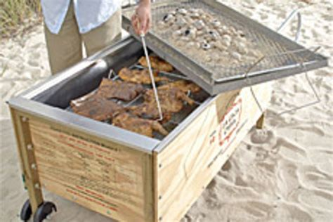 portable pit bbq portable barbecue pit uncrate