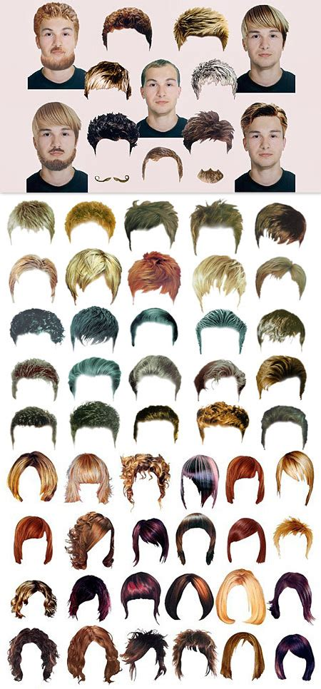 templates for photoshop man hair stylist men woman hairstyle templates 187 vector