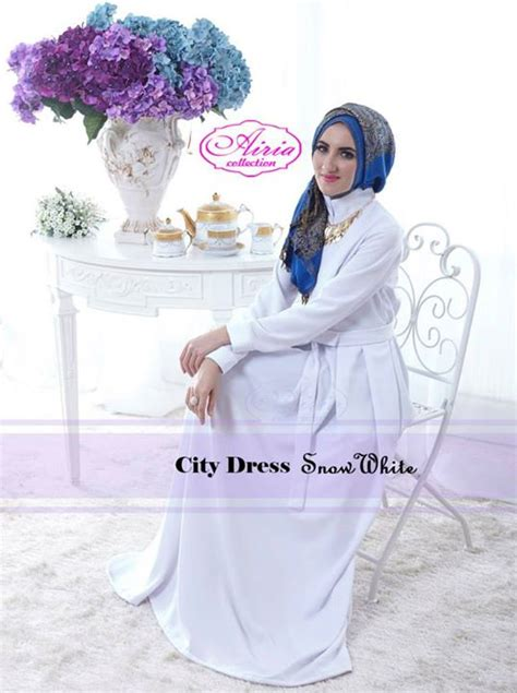 Dress Wanita Chiffon Blue Original Import Gaun Pesta Terusan Cew baju muslim modern terbaru gaun pesta muslim city dress by