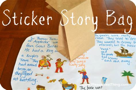 Sticker Story Kindergarten by Sticker Story Bag Creating Stories Simple Play Ideas