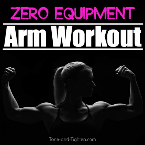at home arm workout without weights tone and tighten