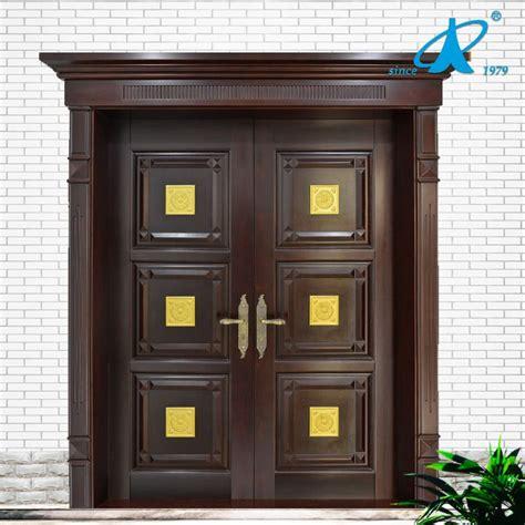 main door teak wood double front door design photo  top