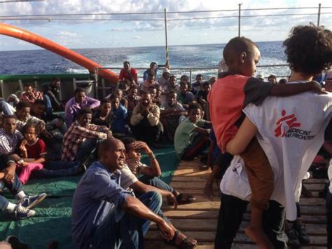 msf refugee boat hundreds of refugees rescued from wooden boats in