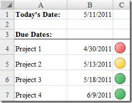 Add Column To Pivot Table Excel Color Icons For Due Date Status Cpa Tech Tips