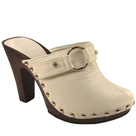 womens high heel clogs womens white high heel clogs co uk shoes bags