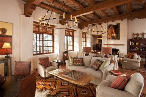 Santa Fe Home Decor by Pueblo Living Room Design