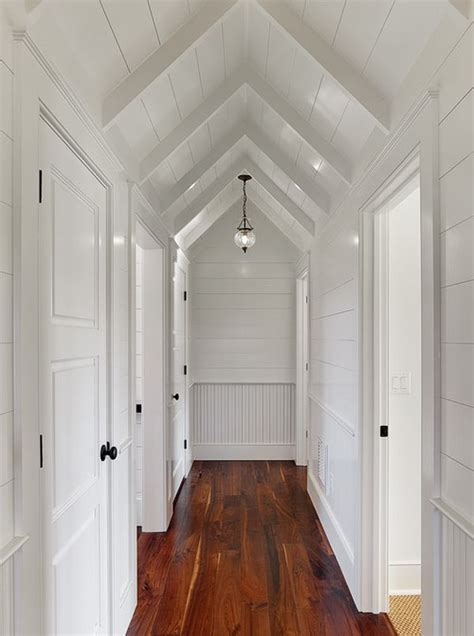 Shiplap Ceiling by Easy Ways To Make Your Hallways Look Bigger Brighter