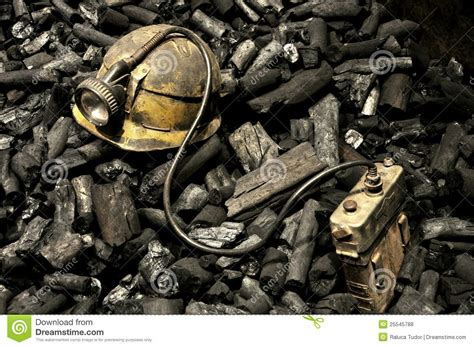 Coal L by Miner Tools And Coal Royalty Free Stock Photos Image