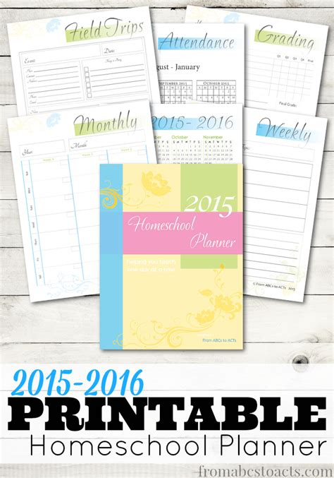 printable planner homeschool free printable homeschool planner free homeschool deals