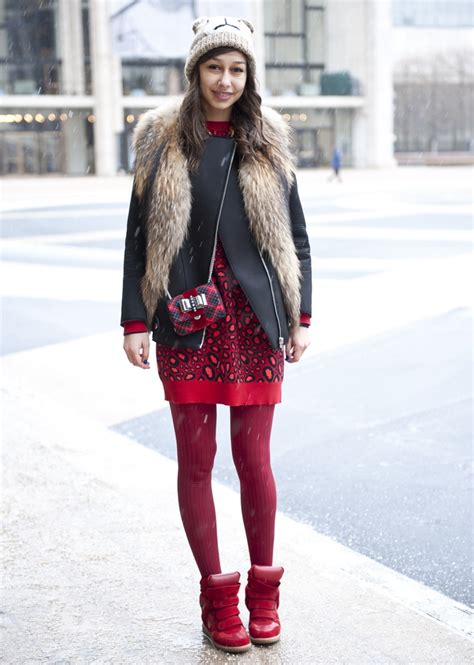 Ny Fashion Week Aw08 Coloured Tights by 27 Best Ways To Style Tights Images On
