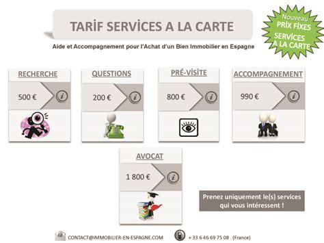 Grille Tarifaire Notaire by Tarif Achat Immobilier En Espagne