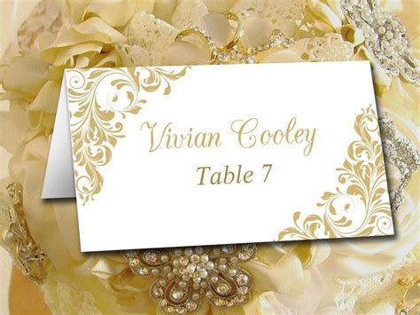 diy wedding place card template printable tent escort card