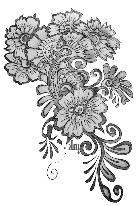Design Flower Pencil | flowers design pencil drawing drawings in pencil simple