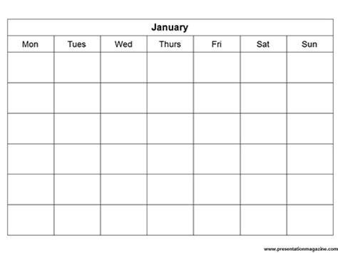 Blank Calendar Template Powerpoint | powerpoint blank calendar calendar template 2016