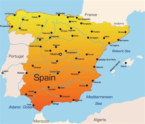 espana map maps of spain
