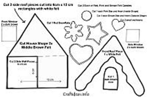felt house template free craft patterns and templates for and winter 5