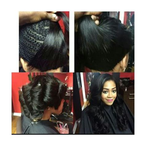 no hair out full weave full sew in no leave out hairstyles pinterest hair