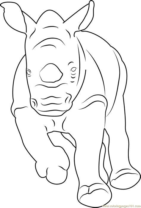 baby rhino coloring page baby rhino running coloring page free rhinoceros