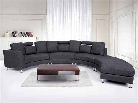 curved fabric sofa fabric curved sectional sofa gray rotunde