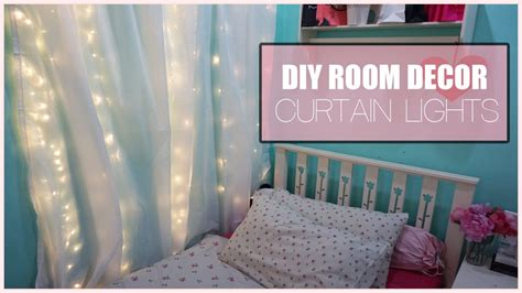 light up room decor diy room decor curtain lights