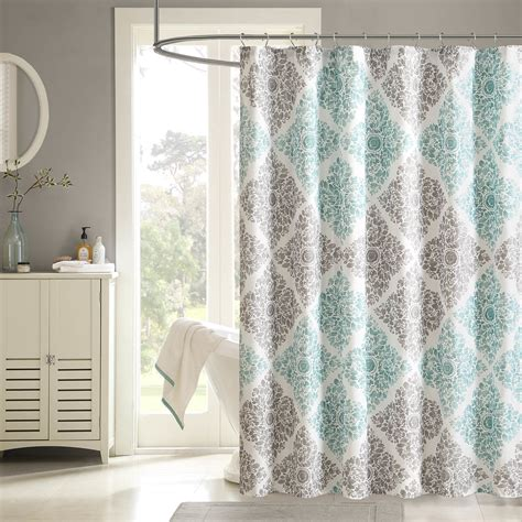 bathroom ideas with shower curtains bathroom claire cotton fabric shower curtains for pretty