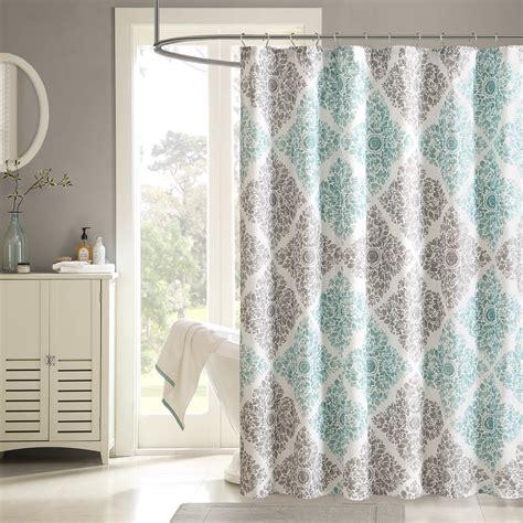Bathroom claire cotton fabric shower curtains for pretty bathroom ideas