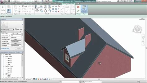 Revit Dormer Roof Revit 2011 How To Cut An Opening After Adding A Dormer