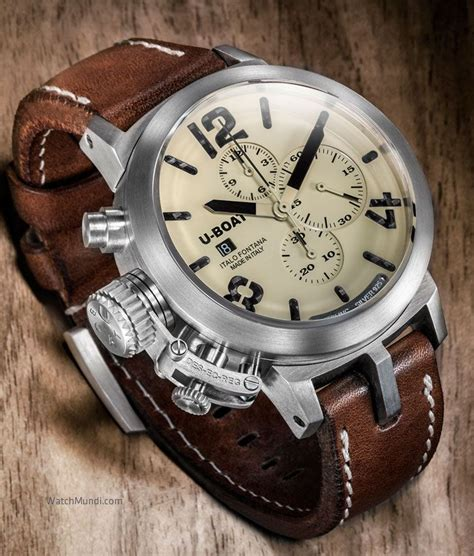 U Boat Italo Fontana Chrono Silver Leather Brown 59 best u boat watches by mc images on boats boating and boating holidays
