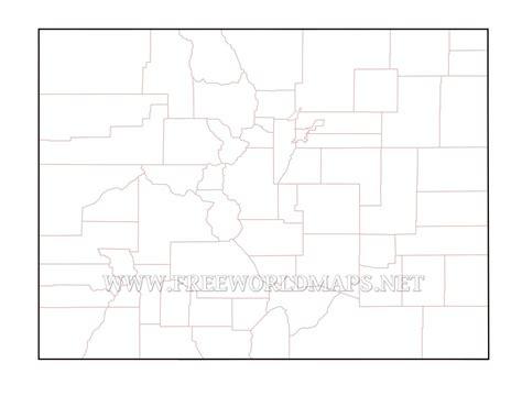 blank map of colorado colorado maps