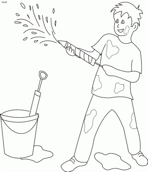 Holi Pictures For To Draw holi coloring drawing painting pages pictures gif