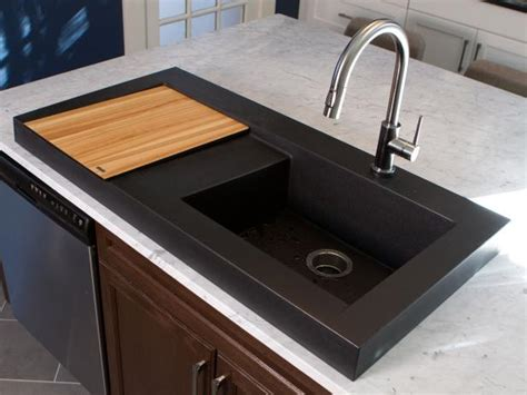 black kitchen sink black kitchens are the new white hgtv s decorating