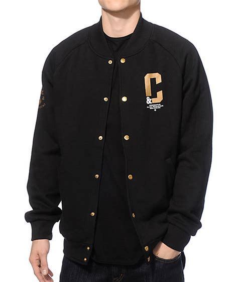 Baseball Jackrt Blackstar Ori Black Grey crooks and castles all hail baseball jacket zumiez