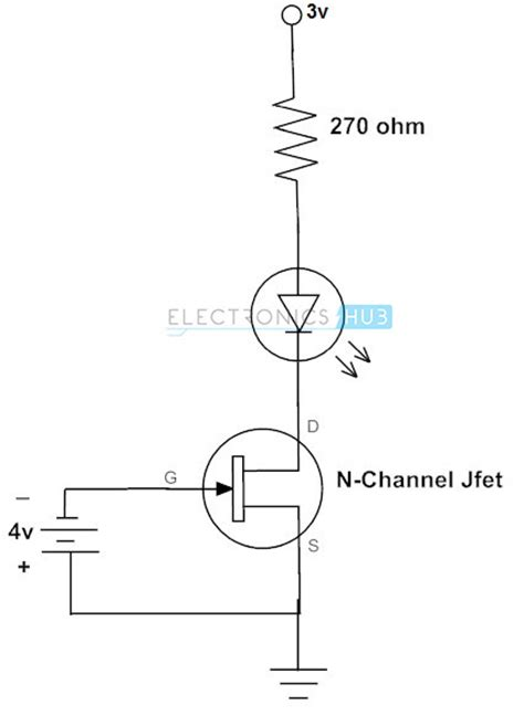 transistor fet n channel fet as a switch working of mosfet or jfet as a switch
