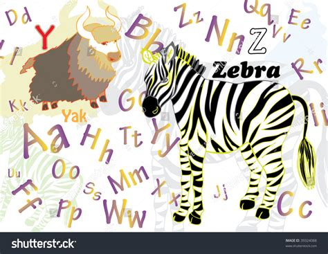 alphabet with animals stock vector alphabet with animals and objects stock vector