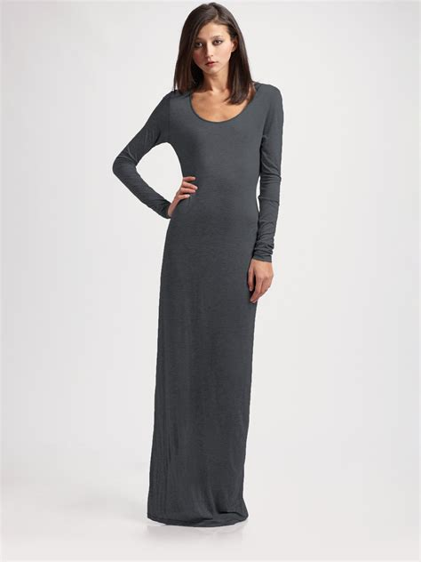 Knit Maxi Dress acne studios knit maxi dress in gray lyst