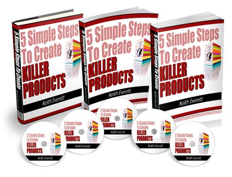 5 simple steps to mastering 5 simple steps to create killer products with master resell right
