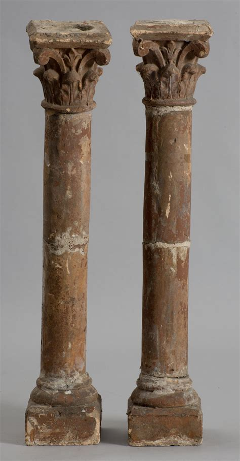 Italian Columns 18th Century Italian Terracotta Corinthian Columns