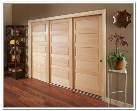 Three Track Sliding Closet Doors 3 Door Sliding Bypass Closet Doors 2 Panel 2 Track Hollow