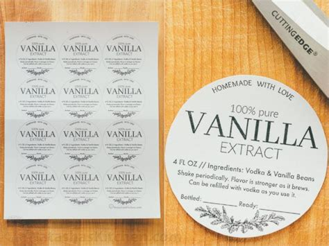 homemade vanilla printable labels pictures to pin on
