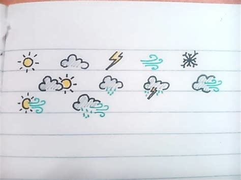 doodle draw journal weathers icons bullet journal doodles il mio bullet